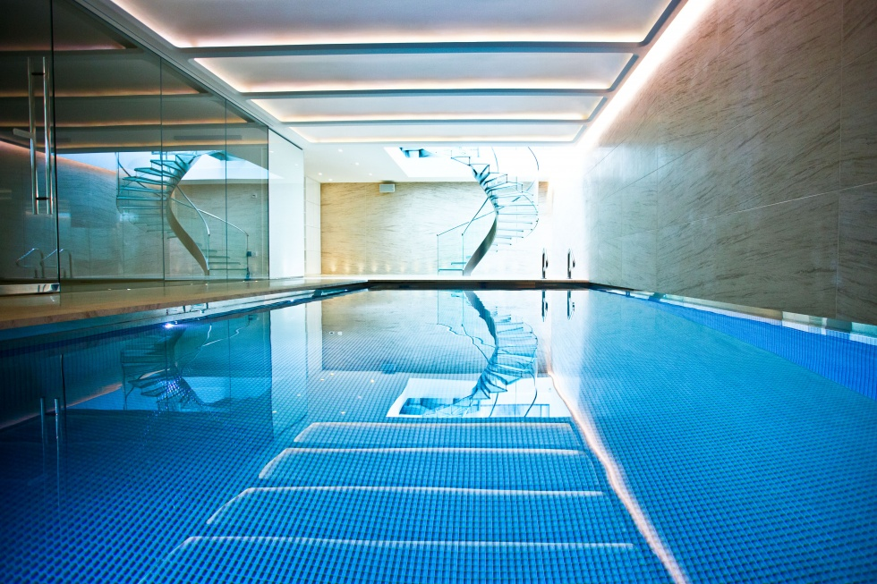 Indoor swimming pool design showcase lspc for California private swimming pool code